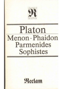 Menon Phaidon Parmenides Sophistes