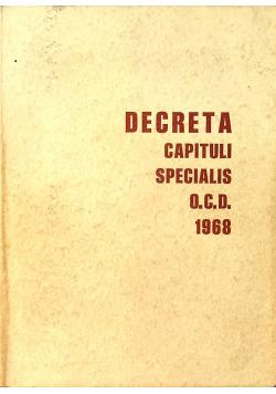 Decreta capituli specialis O C D