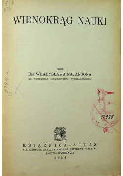 Widnokrąg nauki 1934 r.