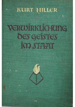 Verwirklichung des geistes im staat, 1925r.
