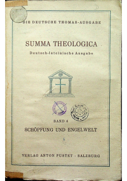 Summa Theologica band 4 1936 r.