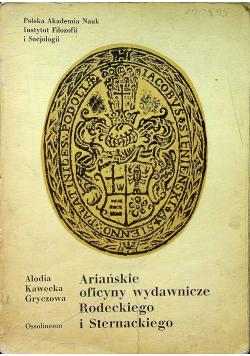 Ariańskie oficyny wydawnicze Rodeckiego i Sternackiego