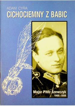 Cichociemny z Babic Major Piotr Szewczyk 1908  1988 plus dedykacja Cyra