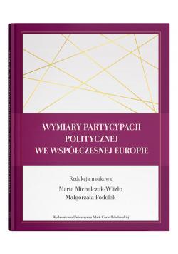 Wymiary partycypacji politycznej we współczesnej Europie