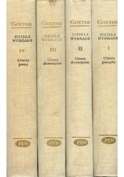 Goethe Dzieła wybrane 4 Tomy