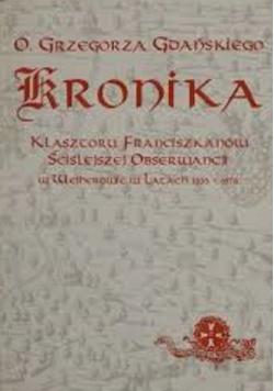 Kronika Klasztoru Franciszkanów Ściślejszej Obserwancji w Wejherowie w latach 1633-1676