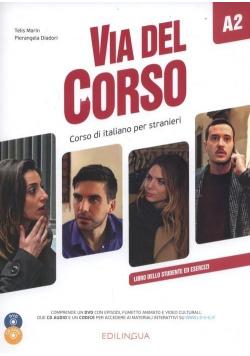 Via del Corso A2 podręcznik + 2CD + DVD EDILINGUA