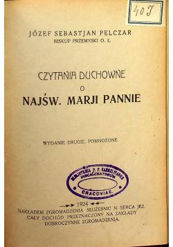 Czytania duchowne o Najświętszej Marji Pannie 1924 r