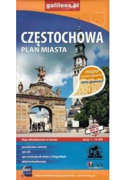 Plan miasta wodoodporny - Częstochowa 1:16 000