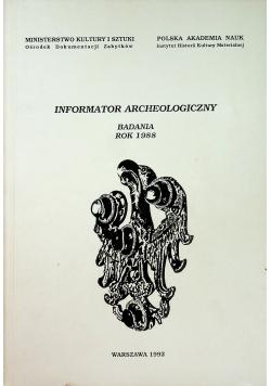 Informator Archeologiczny badania rok 1988