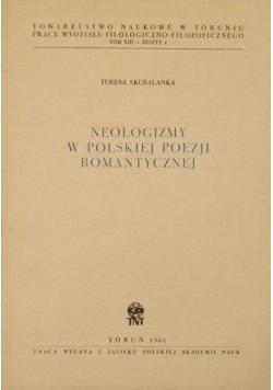Neologizmy w polskiej poezji romantycznej
