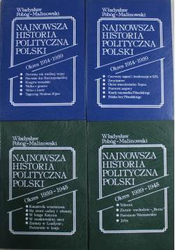 Najnowsza historia polityczna Polski 4 tomy