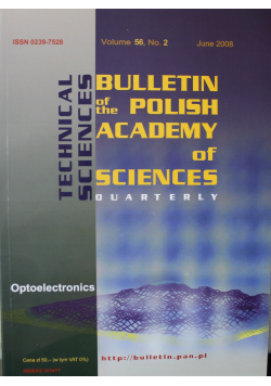 Bulletin of the Polish Academy of Sciences Technical Sciences Vol 56 No 2