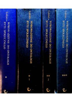 Wprowadzenie do ontologii bytu społecznego 4 tomy