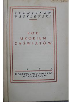 Pod urokiem zaświatów  1923 r.