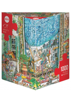 Puzzle 1000 Szalony umysł artysty + plakat