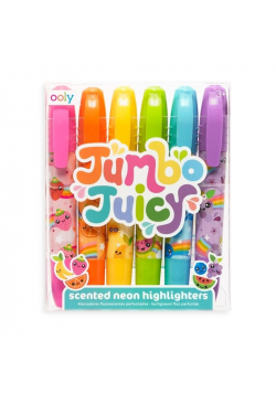 Flamastry pachnące neonowe Jumbo Juicy 6 kolorów