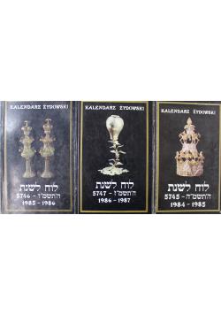 Kalendarz Żydowski zestaw 3 książek