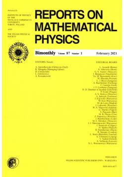 Reports on Mathematical Physics 87/1