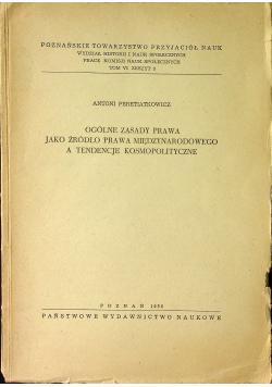 Ogólne zasady prawa jako źródło prawa międzynarodowego a tendencje kosmopolityczne
