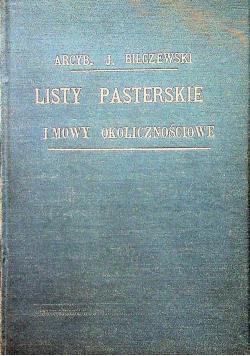 Listy pasterskie i mowy okolicznościowe 1908 r.