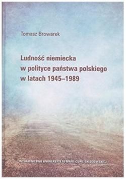 Ludność niemiecka w polityce państwa polskiego...