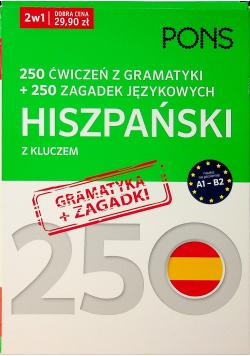 250 ćwiczeń i 250 zagadek gramatyka  Hiszpański 2w1