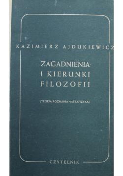 Zagadnienia i kierunki filozofii 1949 r.