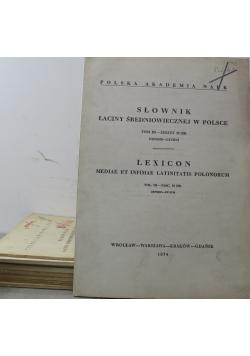 Słownik łaciny średniowiecznej w Polsce Lexicon  Tom 3  9 zeszytów