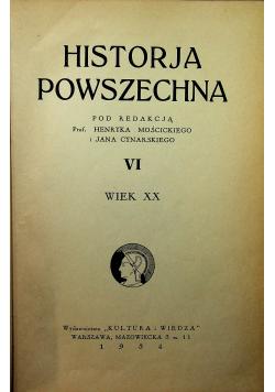 Historja powszechna VI wiek XX 1934 r