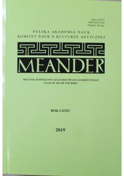 Meander rok LXXIV