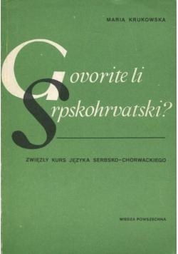 Zwięzły kurs języka serbsko chorwackiego