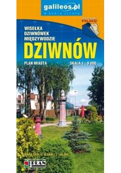 Plan miasta - Dziwnów, Dziwnówek, Międzywodzie