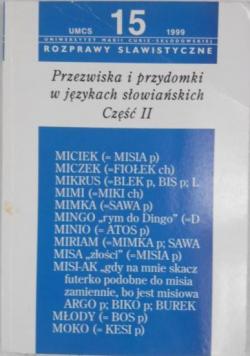 Przezwiska i przydomki w językach słowiańskich