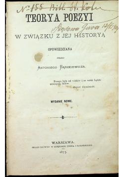 Teorya poezyi w związku z jej historią  1875 r