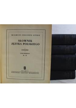 Słownik języka polskiego 5 tomów Reprinty z ok 1860 r.