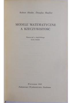 Modele matematyczne a rzeczywistość