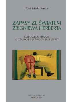Zapasy ze światem Zbigniewa Herberta...