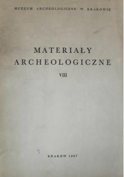 Materiały archeologiczne VIII