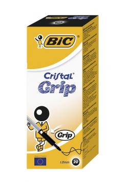 Długopis Cristal Grip czarny (20szt) BIC
