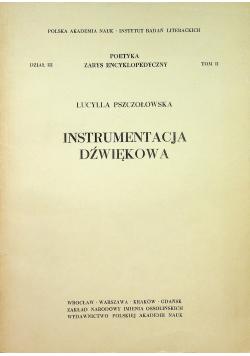 Instrumentacja dźwiękowa