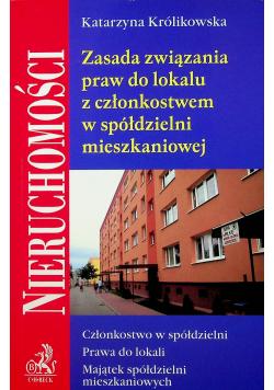 Zasada związania praw do lokalu z członkostwem w spółdzielni mieszkaniowej