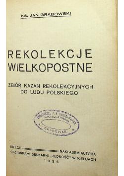Rekolekcje Wielkopostne 1936 r.