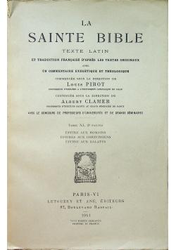 La sainte bible  Tome XI