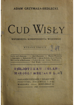 Cud Wisły 1921 r