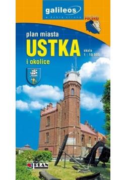 Plan miasta - Ustka i okolice 1:10 000 w.2
