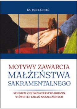 Motywy zawarcia małżeństwa sakramentalnego