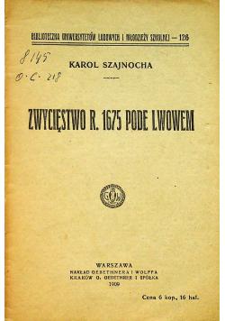 Zwycięstwo r 1675 Pode Lwowem 1909 r