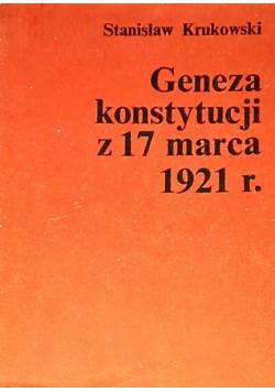 Geneza konstytucji z 17 marca 1921r.
