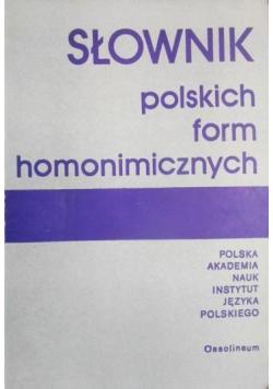 Słownik polskich form homonimicznych